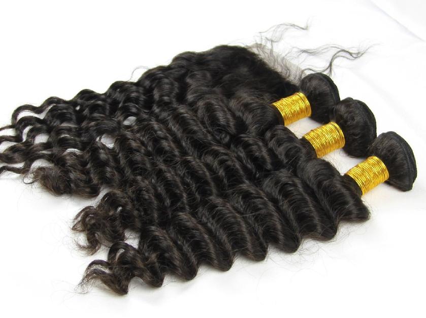 Peruvian Hair 3 Bundle Deals W Lace Closure Queen