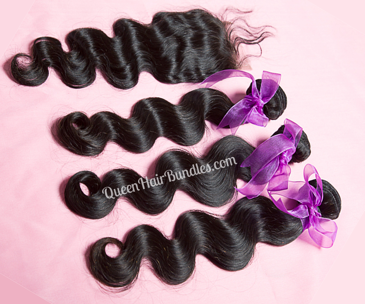 Virgin Hair Bundles With Closure 74