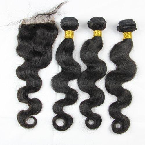Brazilian Hair 3 Bundle Deals W Lace Closure Queen